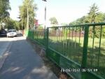 Natieranie plota na Obchodnej akadémii v Seredi